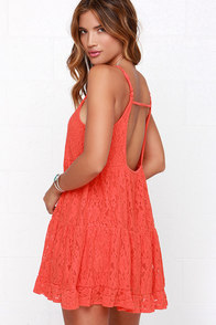 Others Follow Day Dream Coral Red Dress at Lulus.com!