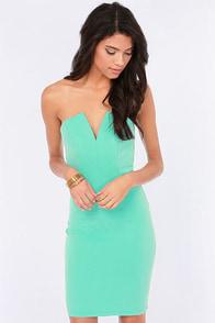 Feeling So Fly Strapless Mint Dress at Lulus.com!