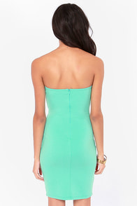Feeling So Fly Strapless Mint Dress at Lulus.com!