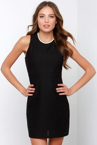 Olive & Oak Slam Dunk Black Dress at Lulus.com!
