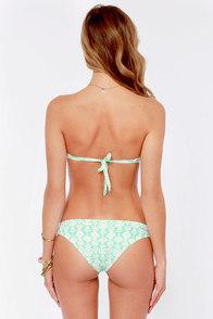 O'Neill Delilah Mint Print Bandeau Bikini at Lulus.com!