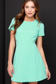 Standing Ovation Mint Lace Dress at Lulus.com!