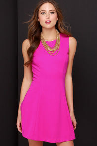Framed Dame Magenta Dress at Lulus.com!