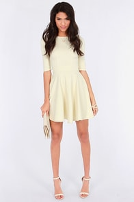 Just a Twirl Cream Dress at Lulus.com!