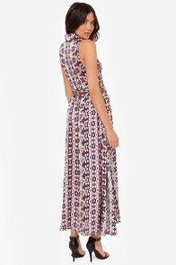 My Fun and Only Purple Print Maxi Dress at Lulus.com!