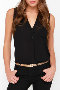 In Your Mesh-t Interest Gold Belt at Lulus.com!