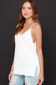 Will You V Mine? Ivory Tank Top at Lulus.com!