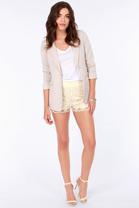 Dreamy Affair Cream Lace Shorts at Lulus.com!