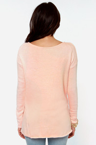 Ready or Knit Peach Sweater at Lulus.com!