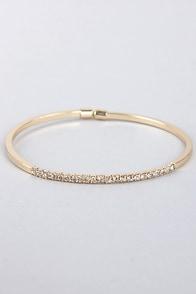 Teacher's Petite Gold Rhinestone Bracelet at Lulus.com!