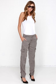 Blank NYC For Sure Washed Grey Cargo Pants at Lulus.com!