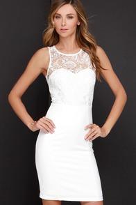 Among the Stars Ivory Lace Midi Dress at Lulus.com!