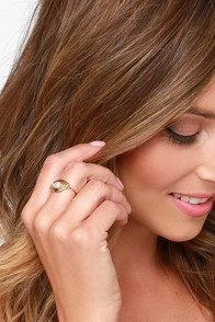 Eye of the Storm Gold Pearl Ring at Lulus.com!