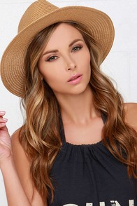 Sun Baby Tan Straw Hat at Lulus.com!