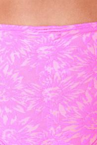 O'Neill Daisy Chain Pink Floral Print Bandeau Bikini at Lulus.com!