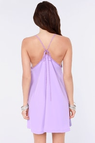 Amour the Merrier Lavender Lace Dress at Lulus.com!
