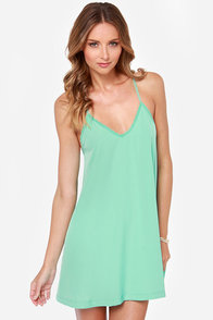 Amour the Merrier Mint Green Lace Dress at Lulus.com!