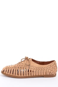 Jessica Simpson Sorbett Natural Woven Leather Flats at Lulus.com!