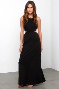 Billabong Hold On Me Black Maxi Dress at Lulus.com!