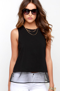 Air Kiss Black Sleeveless Top at Lulus.com!
