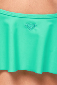Roxy Cropped Tankini Teal Bikini at Lulus.com!