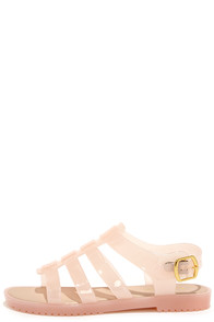 So Jelly I'm Jam Nude Jelly Sandals at Lulus.com!
