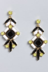 Days of Delight Black Dangle Earrings at Lulus.com!