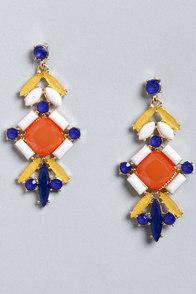 Days of Delight Orange Dangle Earrings at Lulus.com!