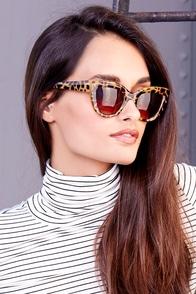 Cat-Eye Contact Tan Tortoise Sunglasses at Lulus.com!