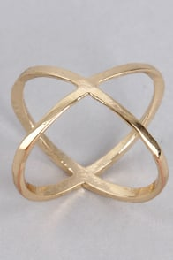 Atom-morrow Is Another Day Gold Knuckle Ring at Lulus.com!