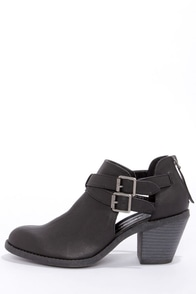 Madden Girl Genus Black Cutout Ankle Boots at Lulus.com!