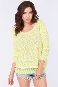 My Fair Lacy Light Yellow Sweater at Lulus.com!