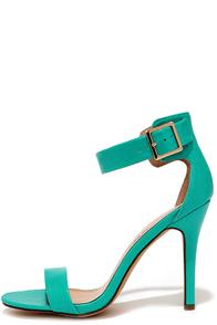 Enjoy the Show Aqua Ankle Strap Heels