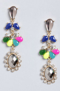 Carnival the Better Rhinestone Earrings at Lulus.com!
