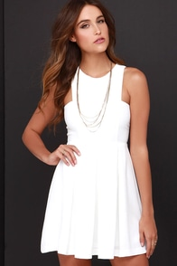 Pleat it Up Ivory Dress at Lulus.com!