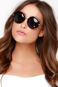Heidi Black Sunglasses at Lulus.com!