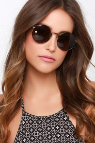 Spot Bronze and Tortoise Sunglasses at Lulus.com!