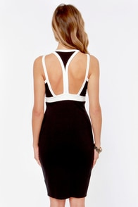 Join the Club Ivory and Black Cutout Dress at Lulus.com!