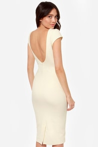 Chic of Nature Cream Bodycon Dress at Lulus.com!