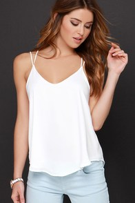 Fly By Birdie Ivory Tank Top at Lulus.com!