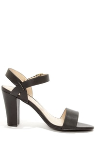 City Classified Space Black High Heel Sandals at Lulus.com!