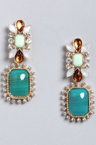 Always Appealing Turquoise Dangle Earrings at Lulus.com!