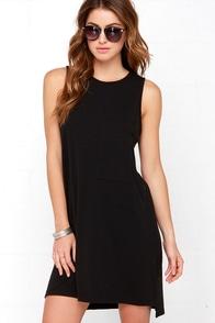Modern Charmer Black Dress at Lulus.com!