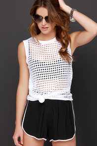 Hole-Hearted Ivory Tank Top at Lulus.com!