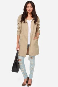 BB Dakota Clio Beige Coat at Lulus.com!