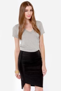 Mink Pink Ready To Start Vegan Leather Black Skirt at Lulus.com!