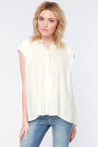 RVCA Chipper Ivory Top