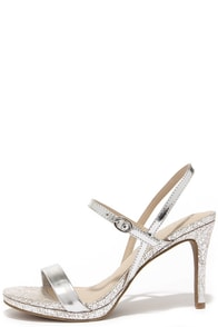 Seychelles Sweet as Honey Silver Leather Dress Sandals at Lulus.com!