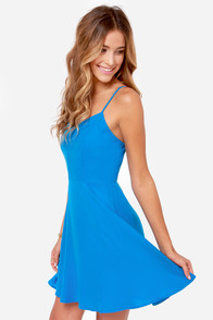 Summer Stroll Blue Dress at Lulus.com!