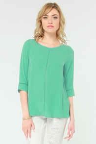 It's A Breeze Mint Green Top